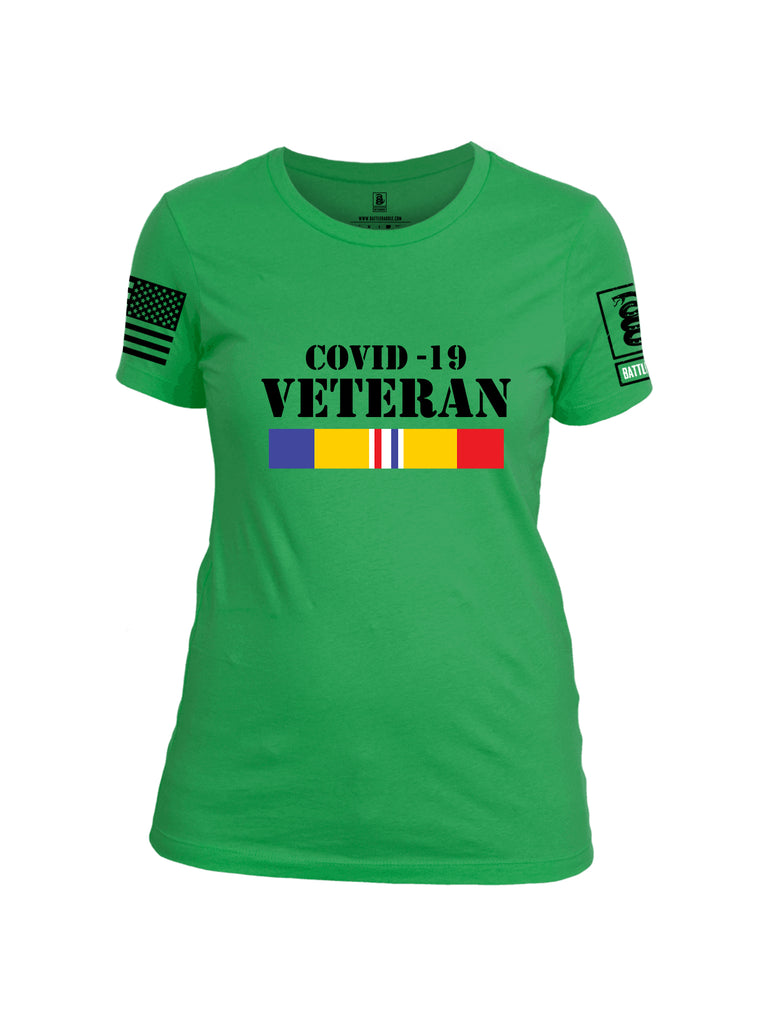 Battleraddle Covid 19 Veteran {sleeve_color} Sleeves Women Cotton Crew Neck T-Shirt