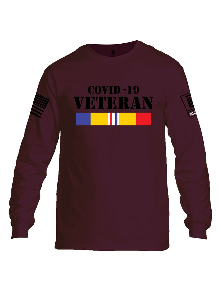 Battleraddle Covid 19 Veteran {sleeve_color} Sleeves Men Cotton Crew Neck Long Sleeve T Shirt