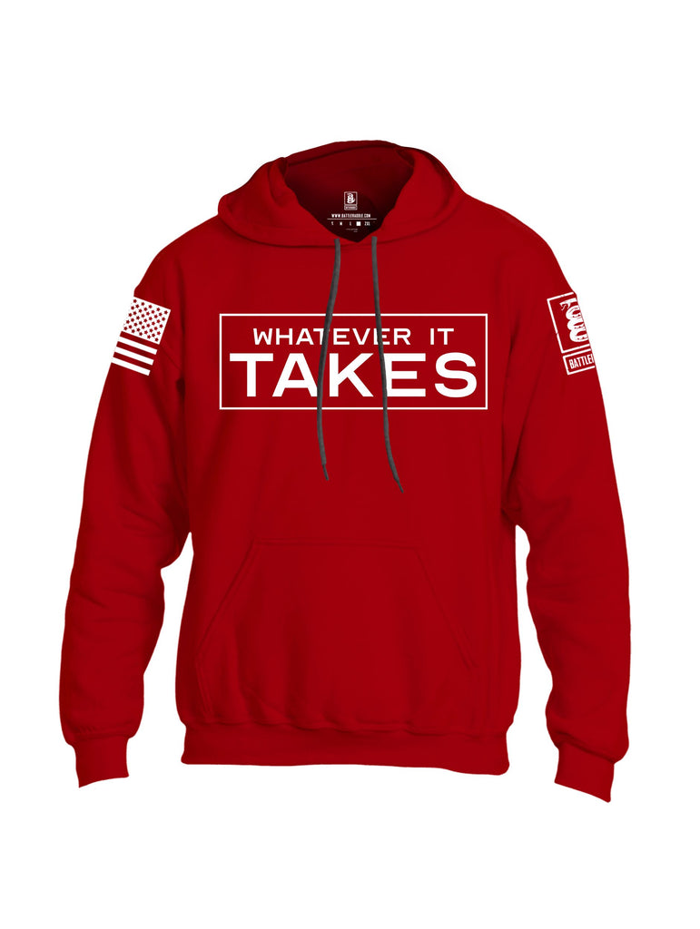 Battleraddle Whatever It Takes White Sleeves Uni Cotton Blended Hoodie With Pockets