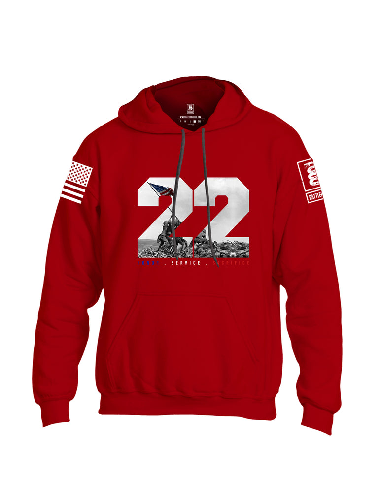 Battleraddle 22 Honor Service Sacrifice {sleeve_color} Sleeves Uni Cotton Blended Hoodie With Pockets