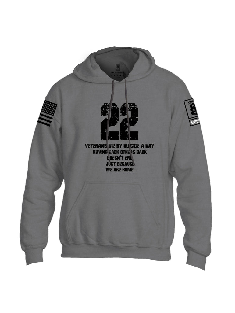 Battleraddle 22 A Day Black {sleeve_color} Sleeves Uni Cotton Blended Hoodie With Pockets