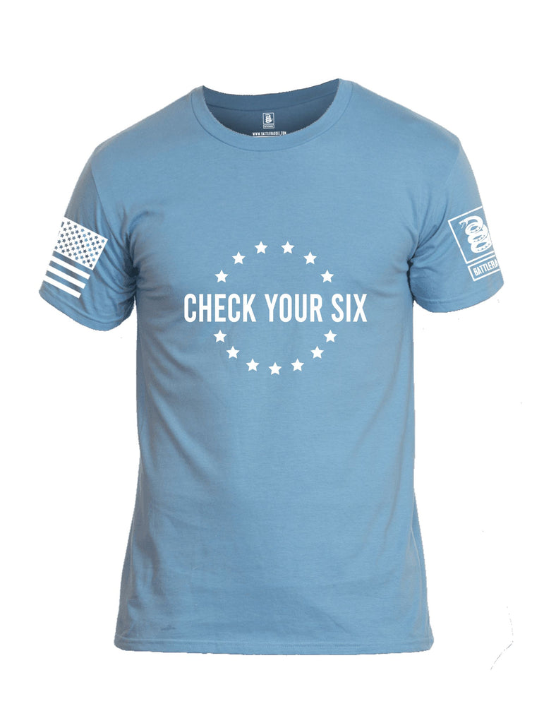 Battleraddle Check Your Six {sleeve_color} Sleeves Men Cotton Crew Neck T-Shirt