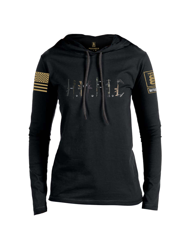 Battleraddle Hmfic Rifles {sleeve_color} Sleeves Women Cotton Thin Cotton Lightweight Hoodie