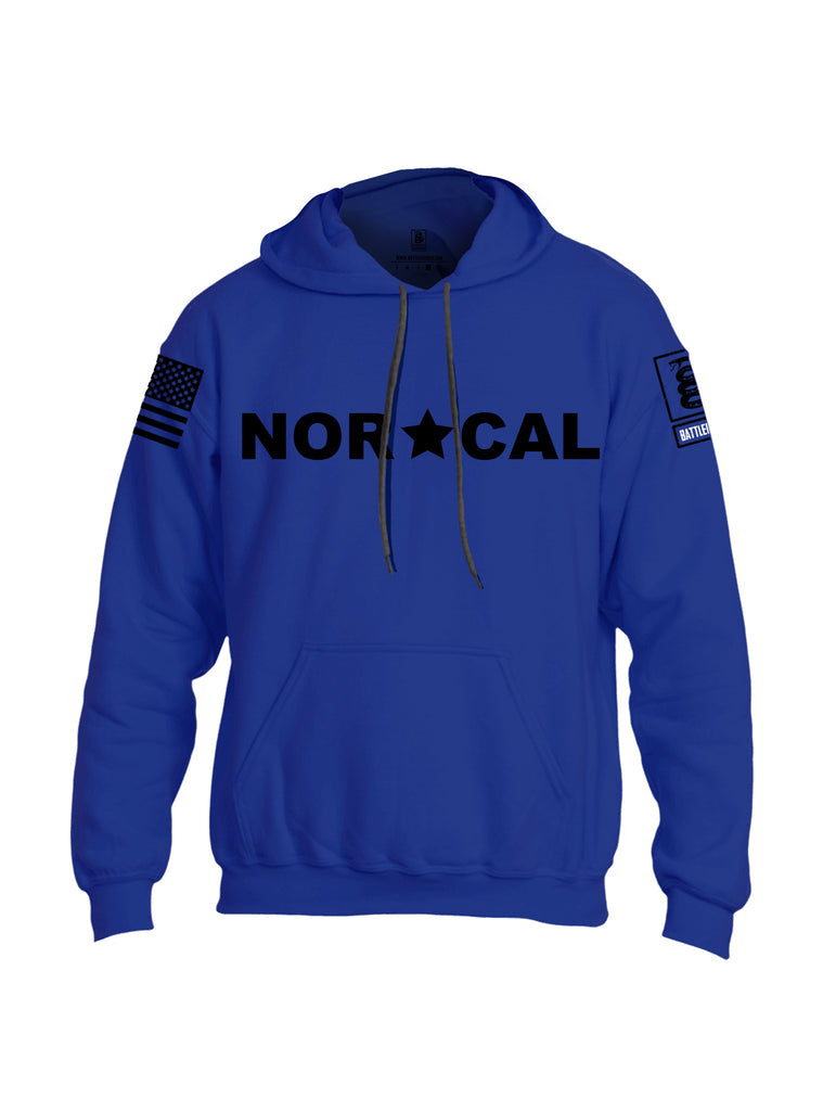 Battleraddle Nor Cal {sleeve_color} Sleeves Uni Cotton Blended Hoodie With Pockets