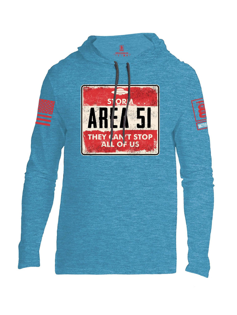 Battleraddle Storm Area 51 They Cant Stop All Of Us Red Sleeve Print Mens Thin Cotton Lightweight Hoodie shirt|custom|veterans|Apparel-Mens Hoodie-Cotton
