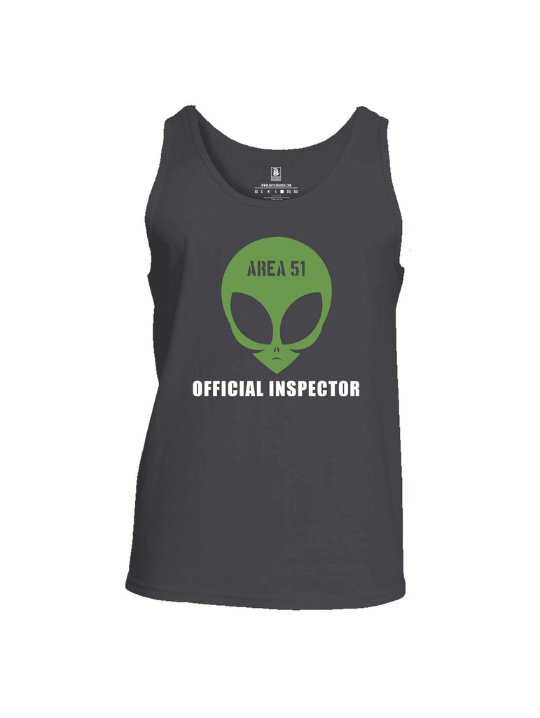 Battleraddle Area 51 Official Inspector Mens Cotton Tank Top shirt|custom|veterans|Apparel-Mens Tank Top-Cotton