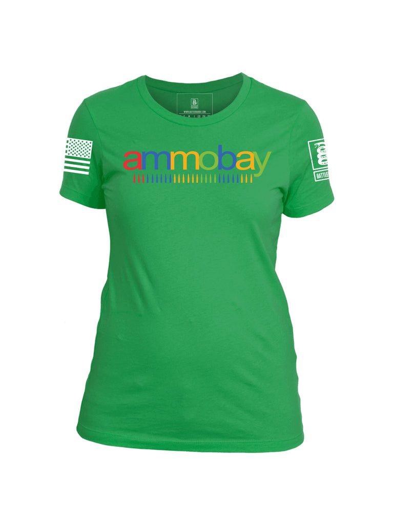 Battleraddle Ammobay Womens Cotton Crew Neck T Shirt - Battleraddle® LLC