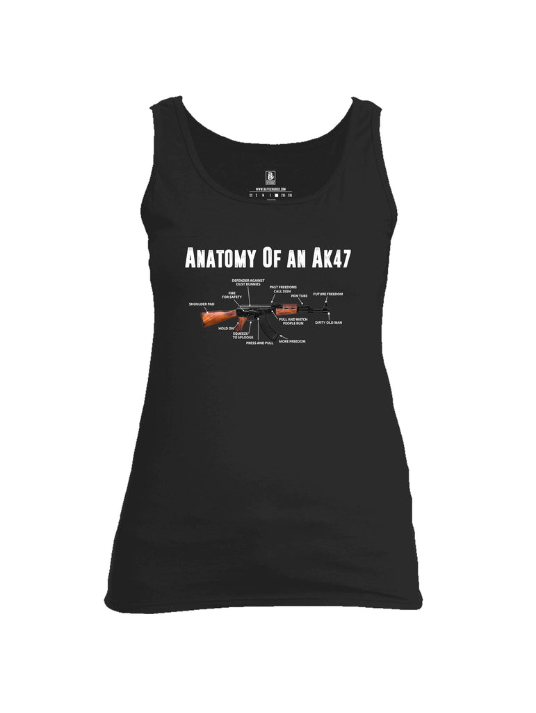 Battleraddle Anatomy Of An AK47 Womens Cotton Tank Top