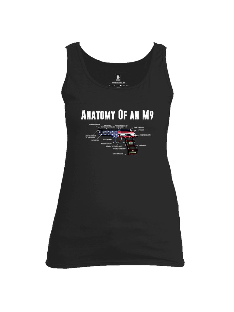 Battleraddle Anatomy Of An M9 Womens Cotton Tank Top