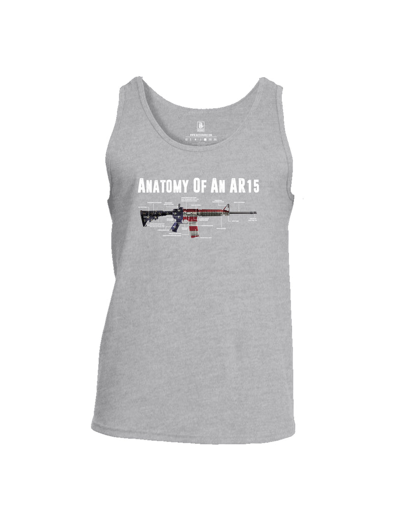Battleraddle Anatomy Of An AR15 Mens Cotton Tank Top