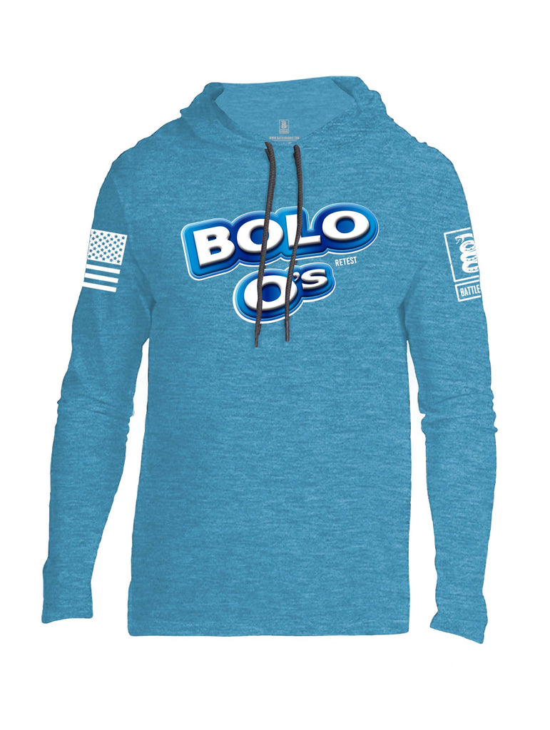 Battleraddle Bolos Always Retest White Sleeve Print Mens Thin Cotton Lightweight Hoodie - Battleraddle® LLC