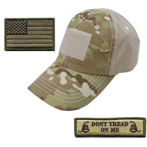 Battleraddle Tactical Don't Tread On Me Camouflage  Mesh Cap With Front/Back Patches
