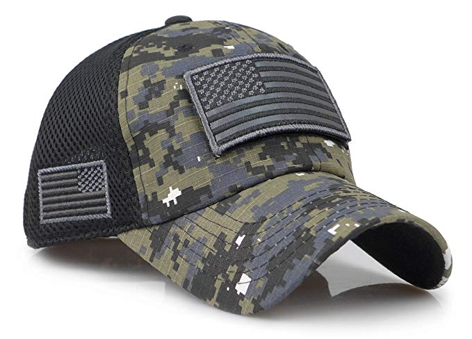 Battleraddle Tactical USA Flag Mesh Adjustable Velcro Cap