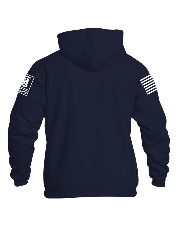 Battleraddle Thin Blue Line Patriotic Police Mens Cotton Pullover Hoodie With Pockets