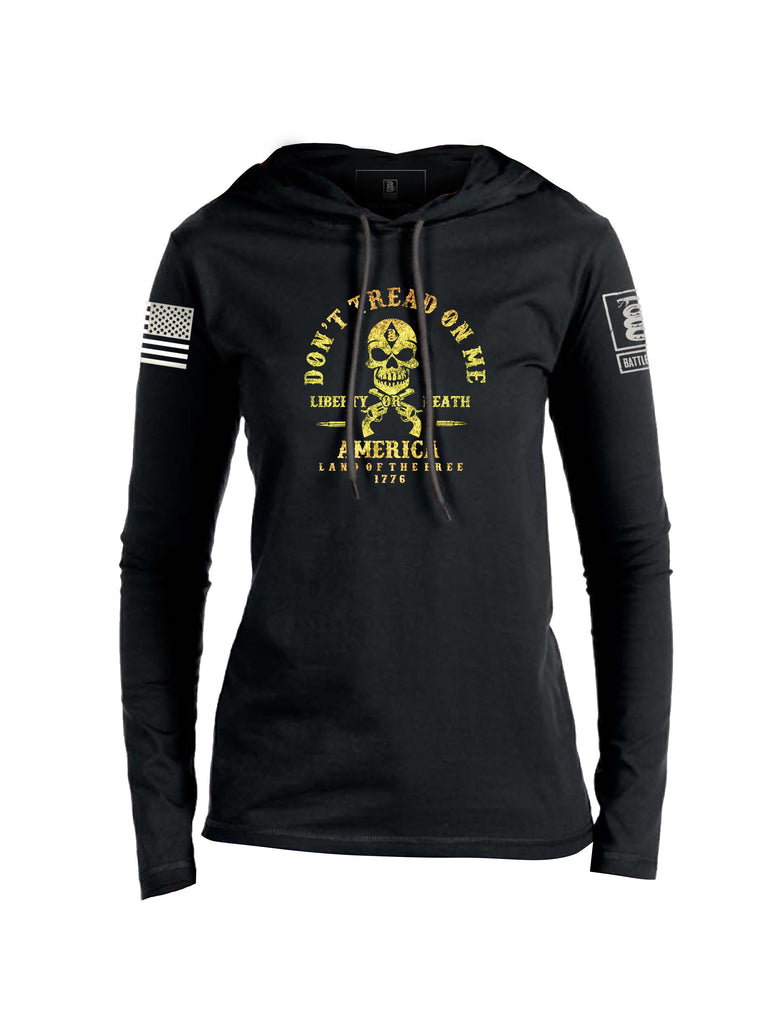 Battleraddle Don't Tread On Me Womens Thin Cotton Lightweight Hoodie