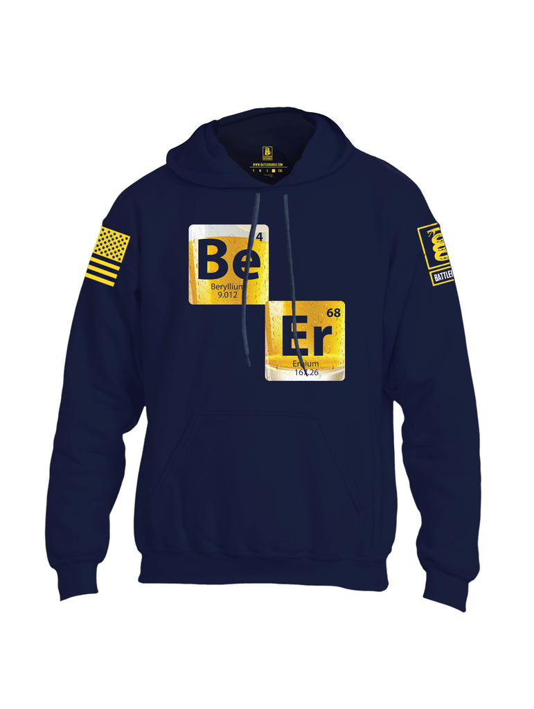 Battleraddle BE-ER Yellow Sleeve Print Mens Blended Hoodie With Pockets - Battleraddle® LLC