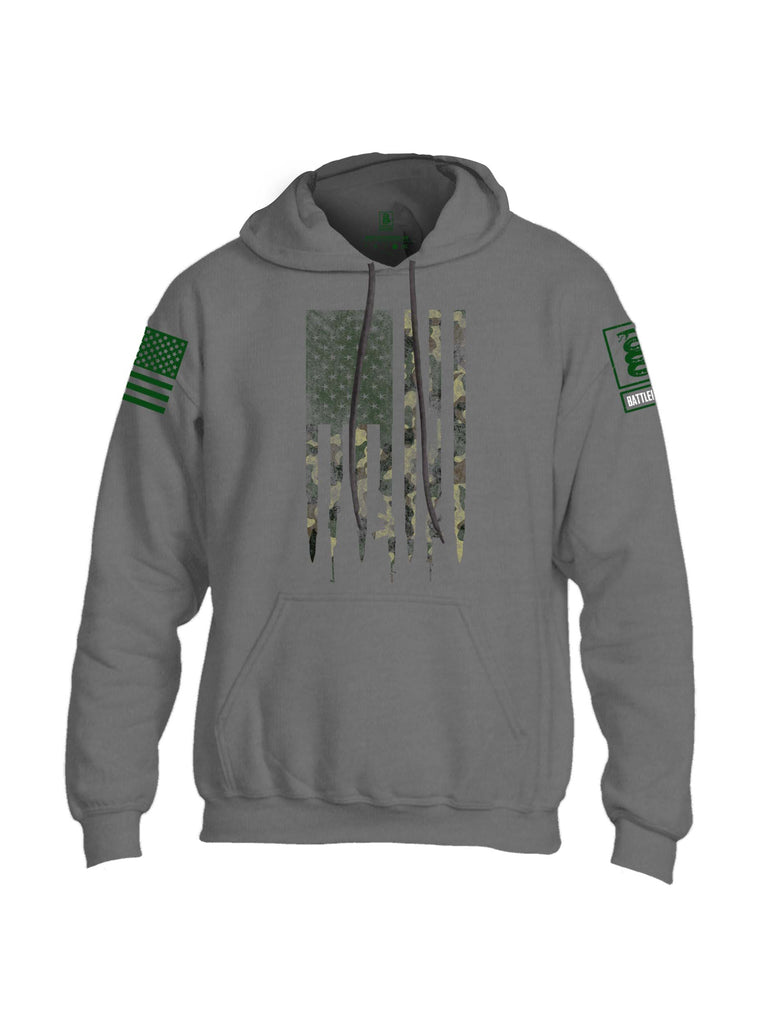 Battleraddle Camo Gun And Bullet Flag Regular Stars BR Logo Camo Sleeve Print Mens Blended Hoodie With Pockets