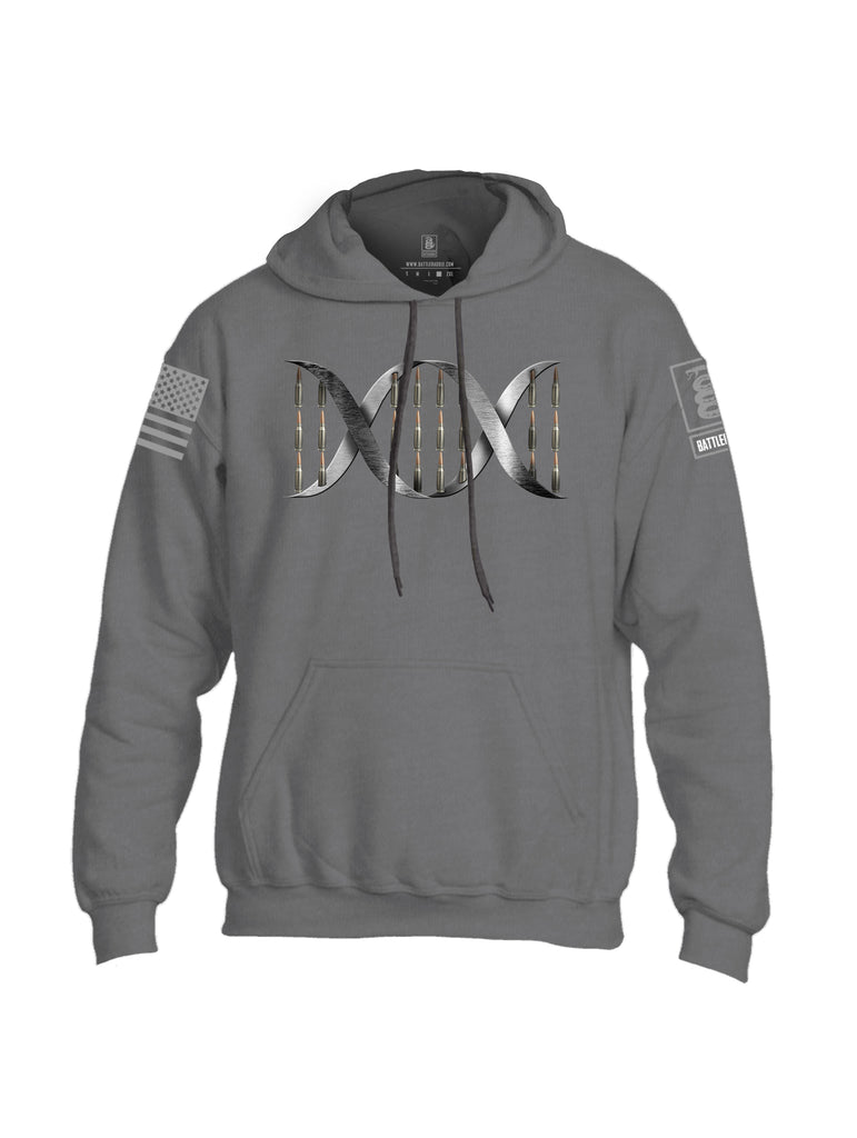 Battleraddle Bullet DNA V1 Grey Sleeve Print Mens Blended Hoodie With Pockets