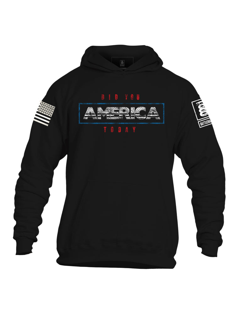 Battleraddle Did You America Today Mens Cotton Pullover Hoodie With Pockets