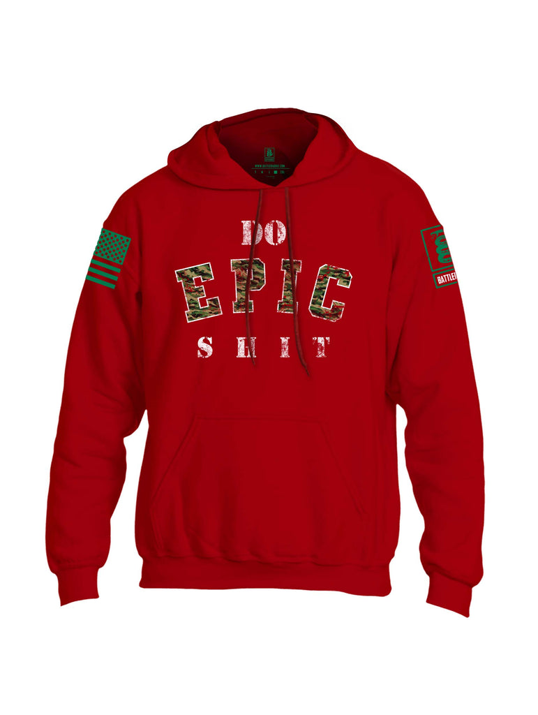 Battleraddle Do Epic-Shit Green Sleeve Print Mens Blended Hoodie With Pockets