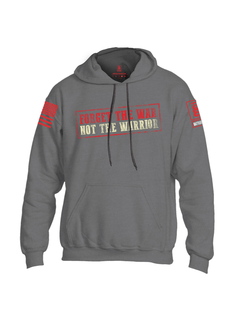 Battleraddle Forget The War Not The Warrior Red Sleeve Print Mens Blended Hoodie With Pockets