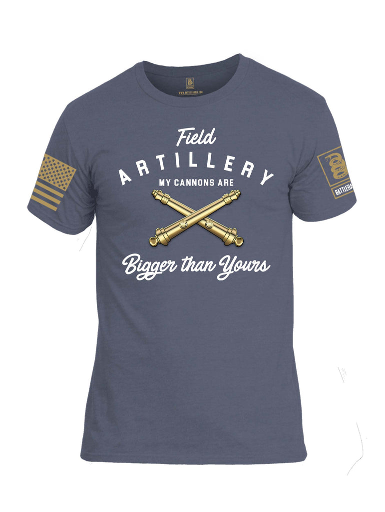 Battleraddle Field Artillery My Cannons Are Bigger Than Yours Brass Sleeve Print Mens Cotton Crew Neck T Shirt