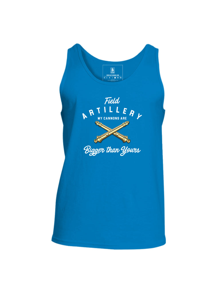 Battleraddle Field Artillery My Cannons Are Bigger Than Yours Mens Cotton Tank Top
