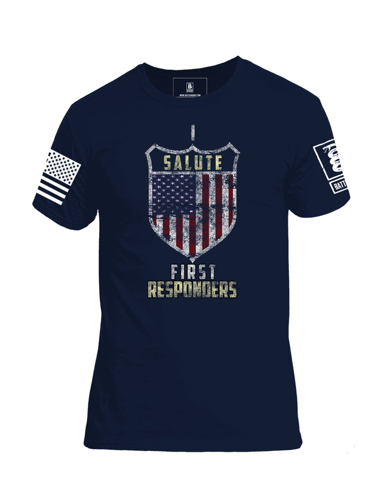 Battleraddle Salute First Responders Cotton Crew Neck T-Shirt
