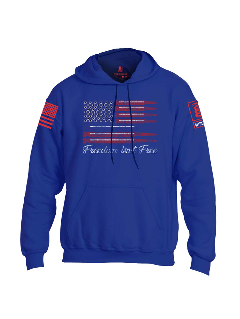 Battleraddle Freedom Isnt Free Thin Blue Line Bullet Red Sleeve Print Mens Blended Hoodie With Pockets