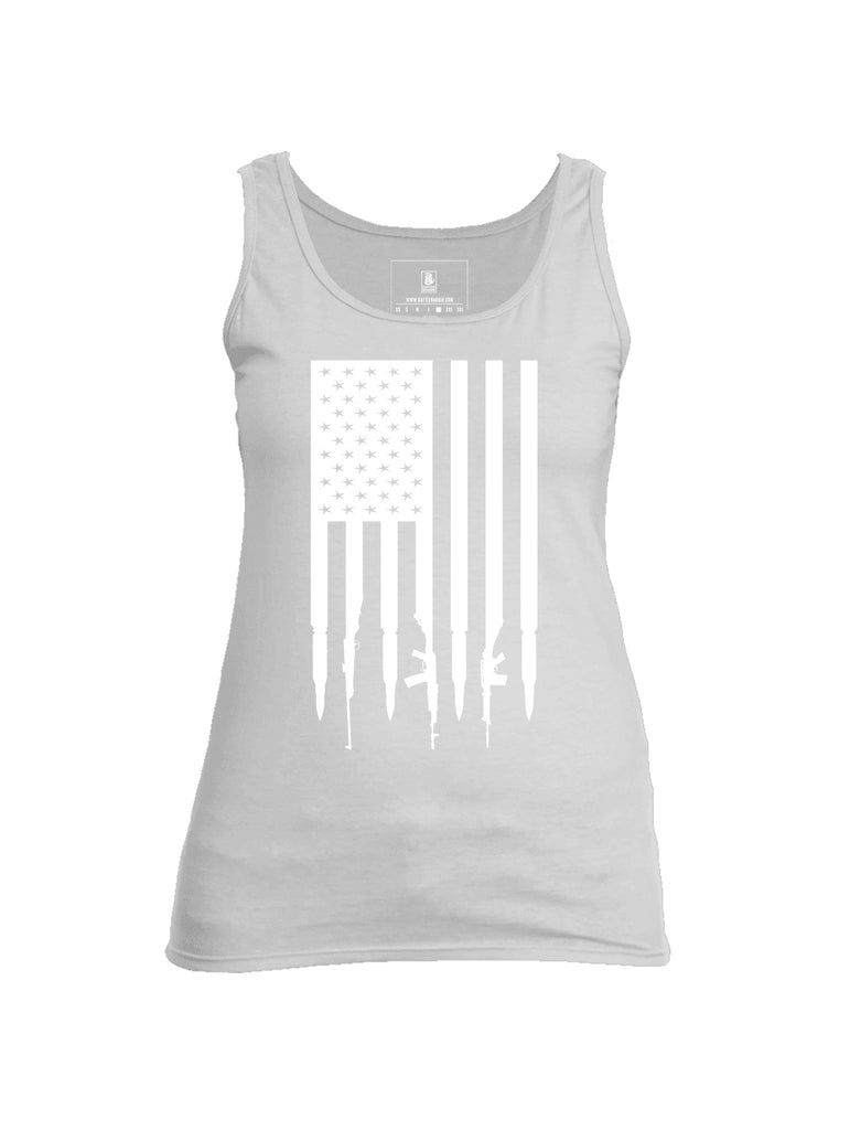 Battleraddle Gun and Bullet Flag Regular Stars V2 Womens Cotton Tank Top