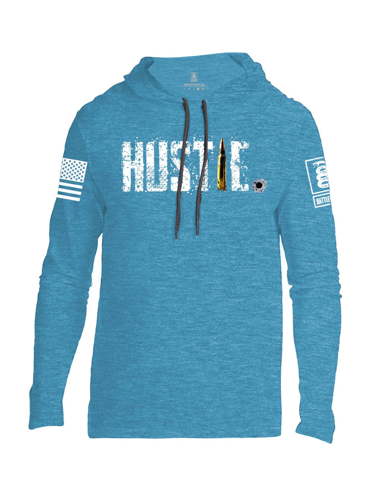 Battleraddle Battleraddle Hustle White Sleeve Print Mens Thin Cotton Lightweight Hoodie