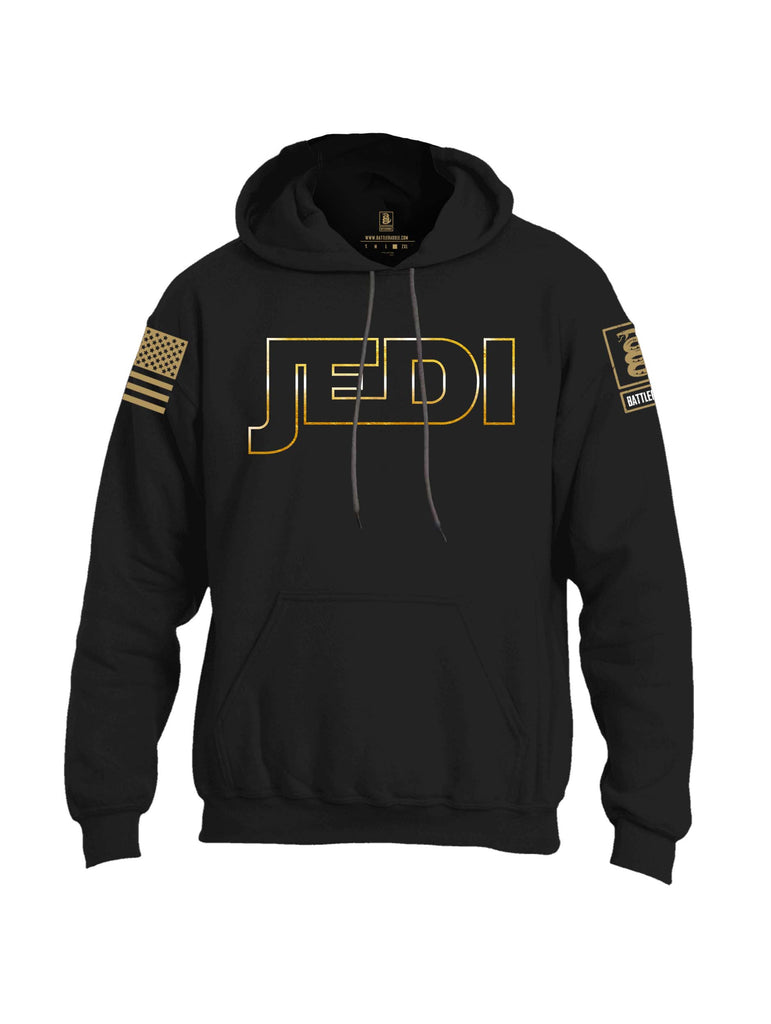 Battleraddle JEDI Brass Sleeve Print Mens Blended Hoodie With Pockets