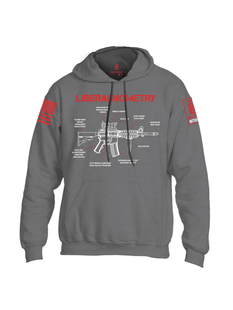 Battleraddle Liberalnometry Red Sleeve Print Mens Blended Hoodie With Pockets