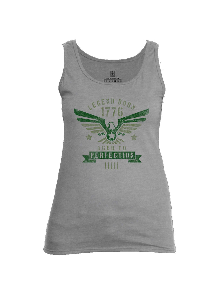 Battleraddle Legend Born 1776 Aged To Perfection Womens Cotton Tank Top