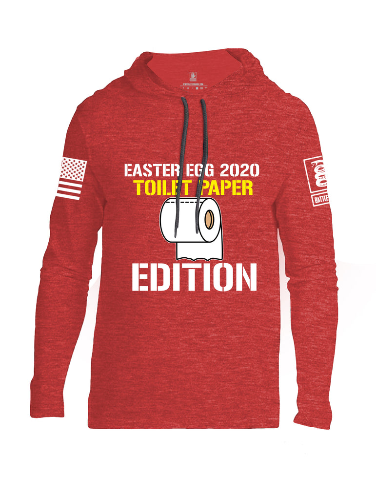 Battleraddle Easter Egg 2020 Toilet Paper Edition White Sleeve Print Mens Thin Cotton Lightweight Hoodie