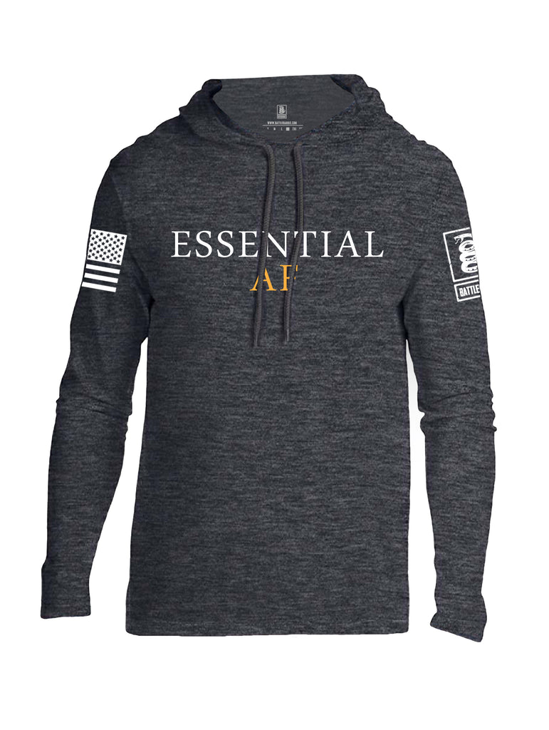 Battleraddle Essential AF White Sleeve Print Mens Thin Cotton Lightweight Hoodie