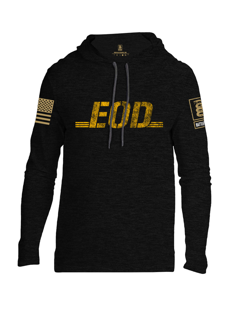 Battleraddle EOD Brass Sleeve Print Mens Thin Cotton Lightweight Hoodie