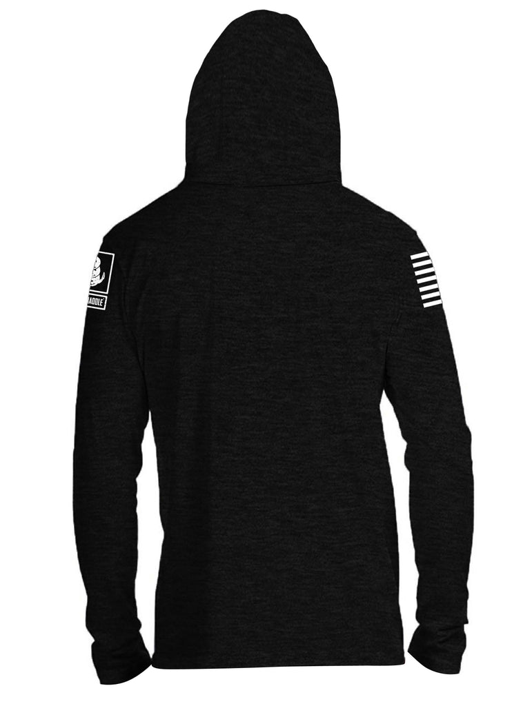 Battleraddle Kalashnikova Rifle Classic White Sleeve Print Mens Thin Cotton Lightweight Hoodie