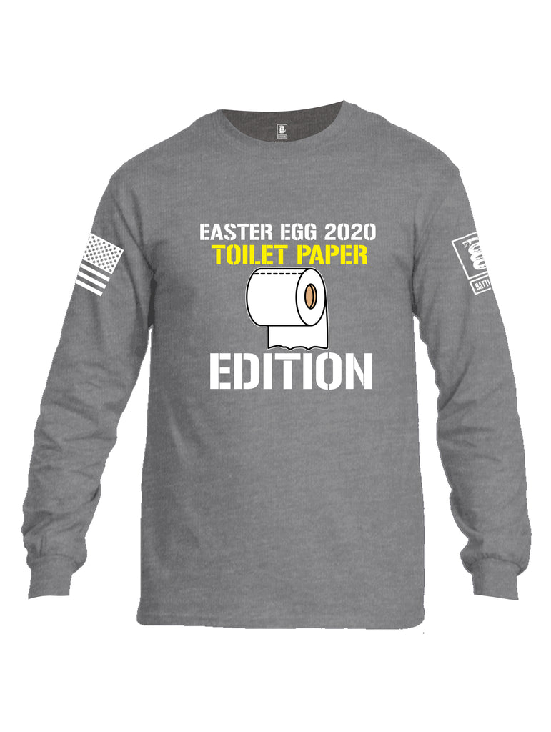 Battleraddle Easter Egg 2020 Toilet Paper Edition White Sleeve Print Mens Cotton Long Sleeve Crew Neck T Shirt