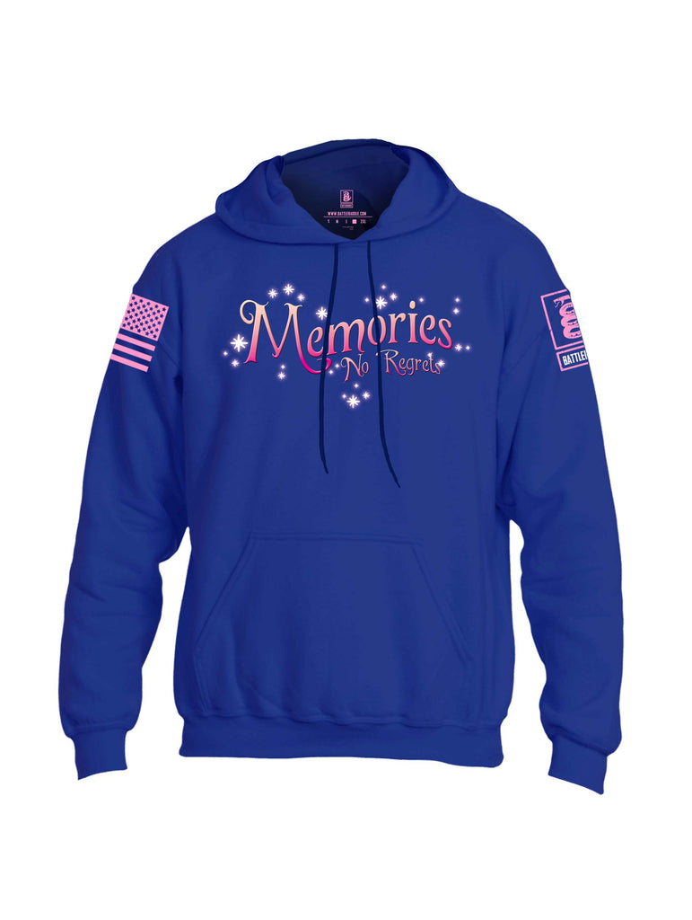 Battleraddle Memories No Regrets Pink Sleeve Print Mens Blended Hoodie With Pockets