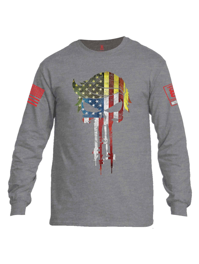 Battleraddle Mr. President Expounder USA Flag Red Sleeve Print Mens Cotton Long Sleeve Crew Neck T Shirt shirt|custom|veterans|Men-Long Sleeves Crewneck Shirt