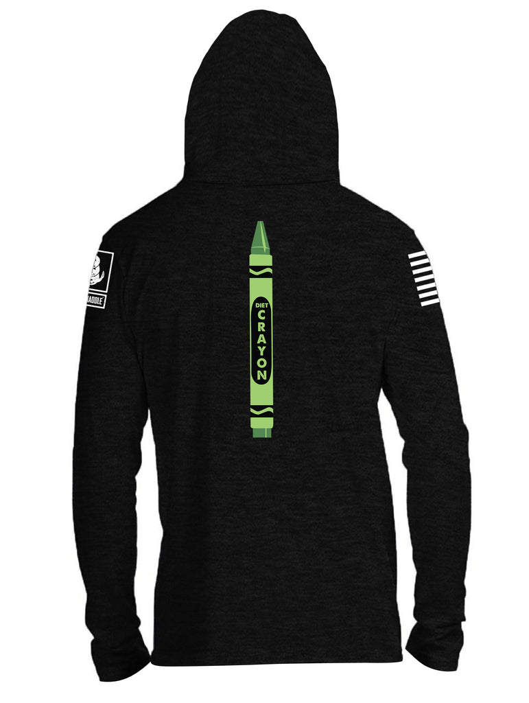 Battleraddle Need To Pass Height And Weight? Diet Crayon White Sleeve Print Mens Thin Cotton Lightweight Hoodie