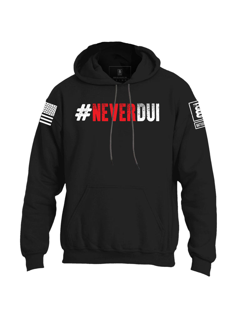 Battleraddle #NeverDUI Mens Blended Hoodie With Pockets - Battleraddle® LLC