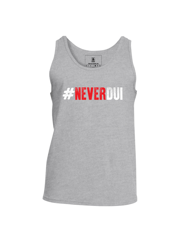 Battleraddle #NeverDUI Mens Cotton Tank Top - Battleraddle® LLC