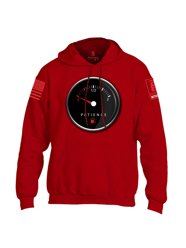 Battleraddle Patience Gauge Red Sleeve Print Mens Blended Hoodie With Pockets