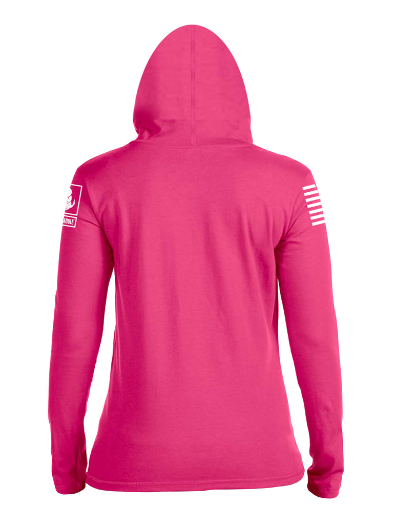 Battleraddle Machine Guns Because Barbie Dolls Suck White Sleeve Print Womens Thin  Cotton Lightweight Hoodie