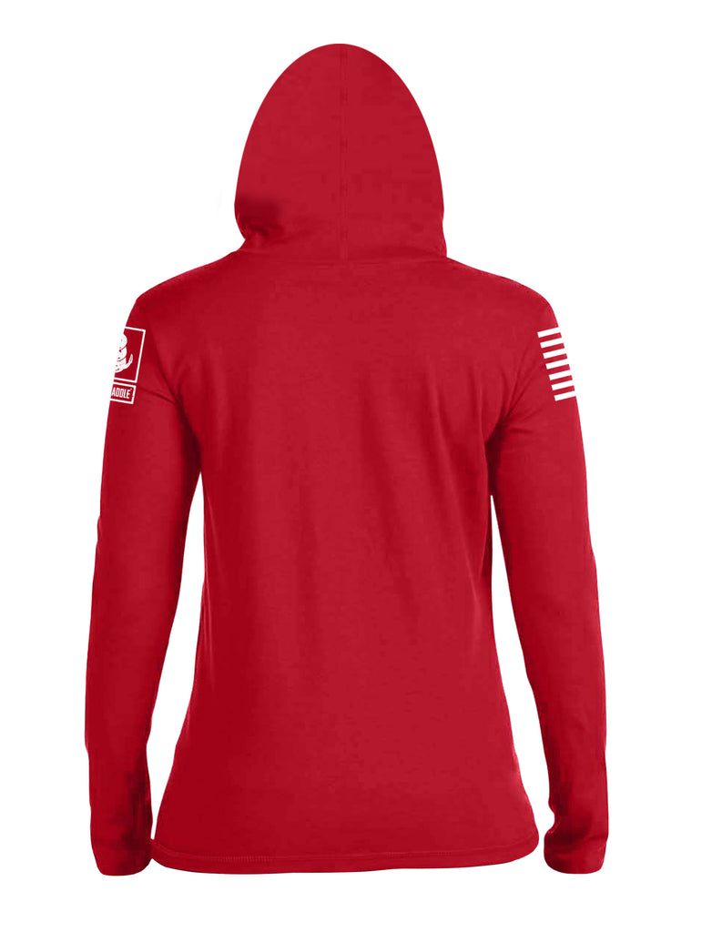 Battleraddle Bride Property Of A U.S. Soldier Womens Thin Cotton Lightweight Hoodie - Battleraddle® LLC