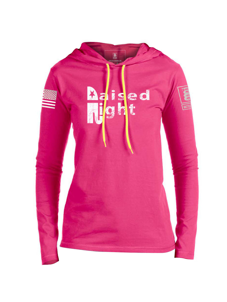 Battleraddle Raised Right V2 Womens Thin Cotton Lightweight Hoodie