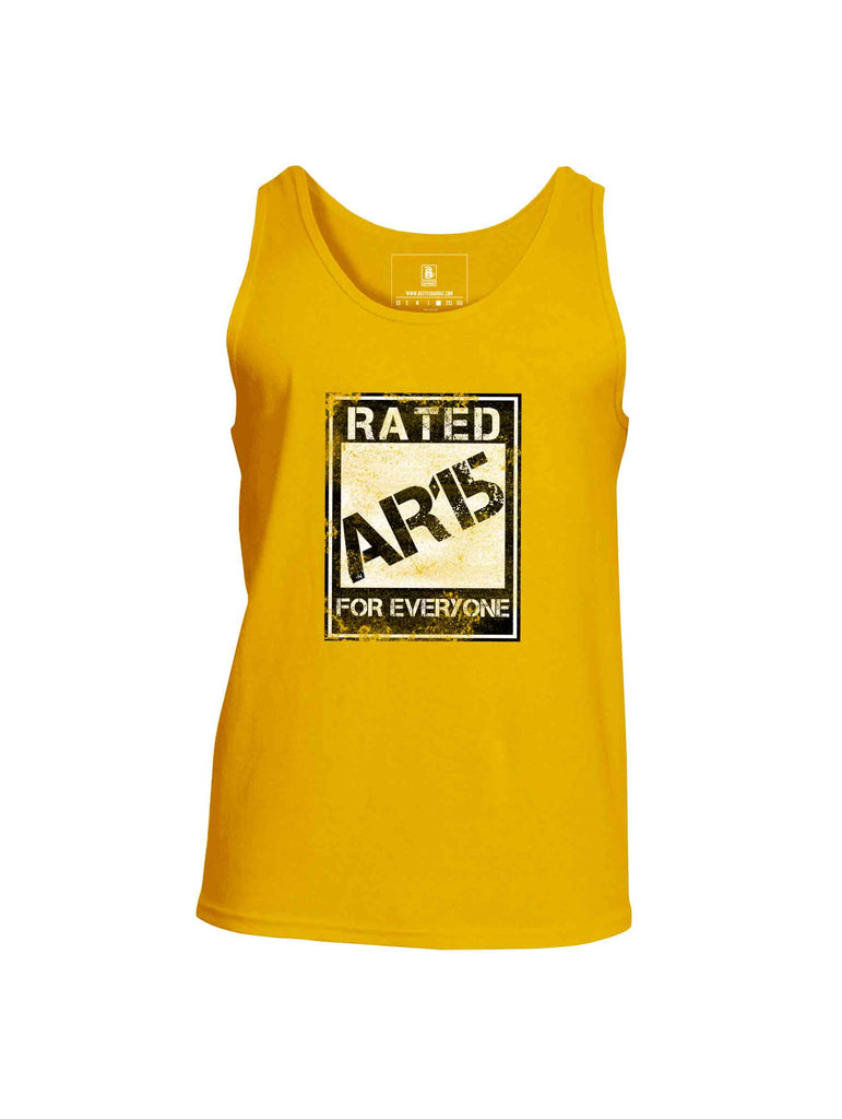 Battleraddle Rated AR15 For Everyone Mens Cotton Tank Top