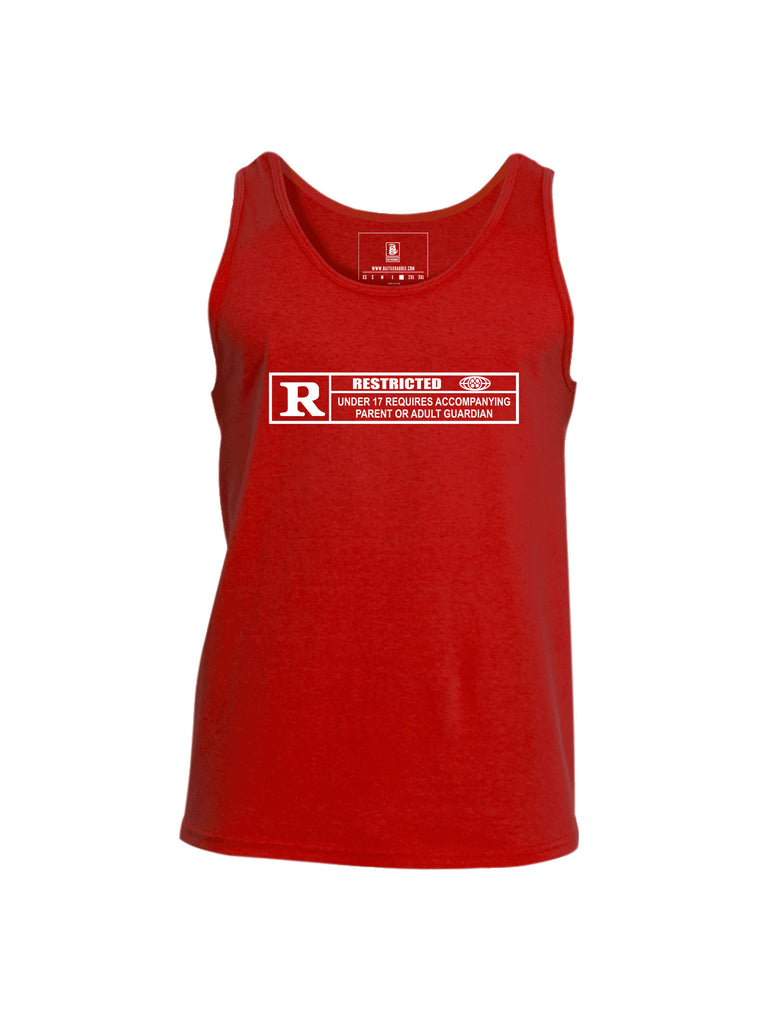 Battleraddle Restricted Under 17 Requires Accompanying Parent Or Adult Guardian Mens Cotton Tank Top